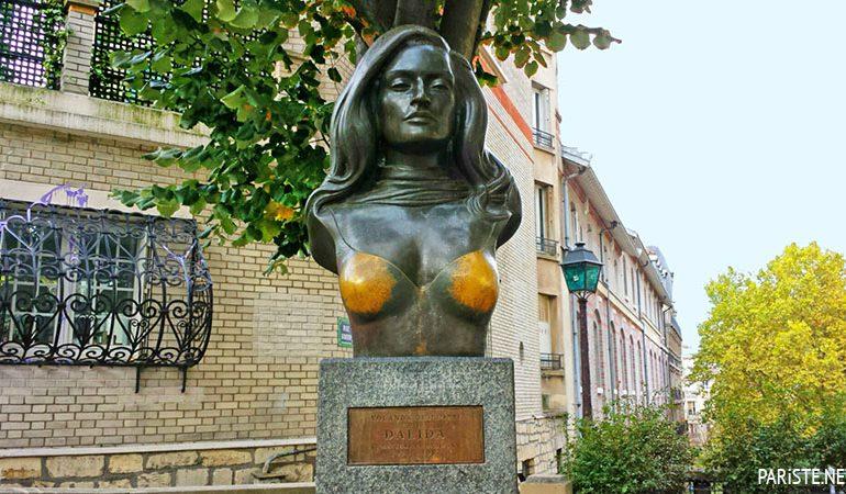 Dalida ile Paris'te Bir Gün Pariste.Net Place Dalida, Dalida'nın büstü