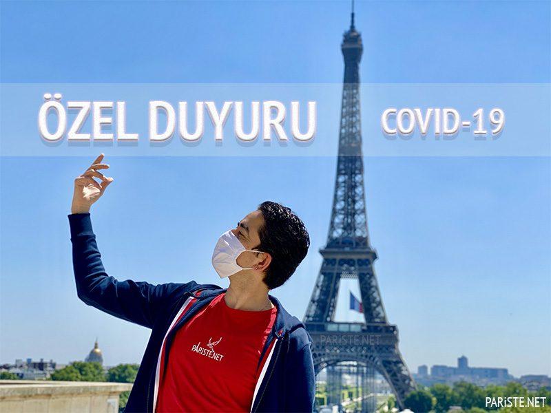 COVID-19 Coronavirus ve Pariste.Net Hakkında ÖZEL DUYURU